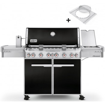 BARBECUE WEBER SUMMIT E-670 GBS NOIR + HOUSSE